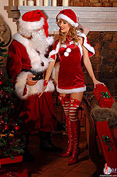 Santa gets blown by an Angel!
